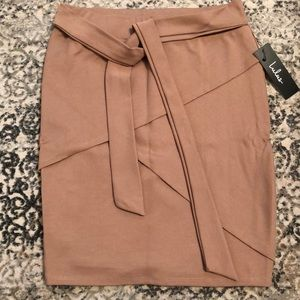 Tan bodycon skirt
